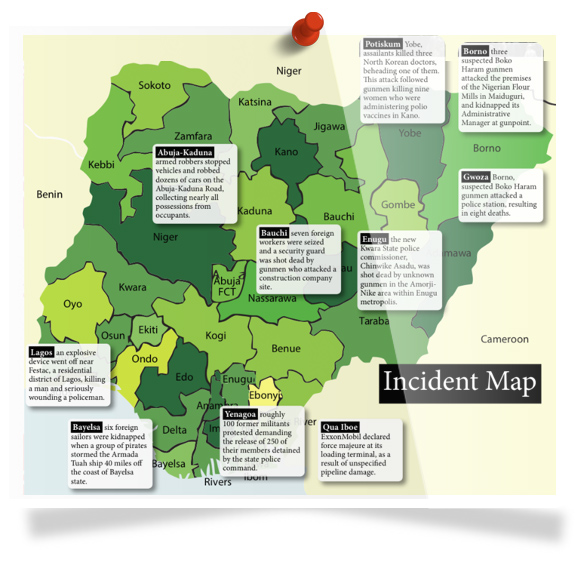 Nigeria Incident Map - Apr 13