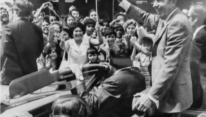 Imagine this: a hot July or August afternoon, 1972 Laredo, Texas; the middle of a high profile presidential reelection campaign.
